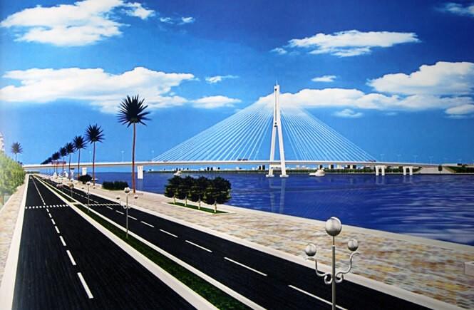 Dự án Khu đô thị Nam Cầu Dài đấu nối với công trình cầu Nhật Lệ 2. Ảnh minh họa: Internet