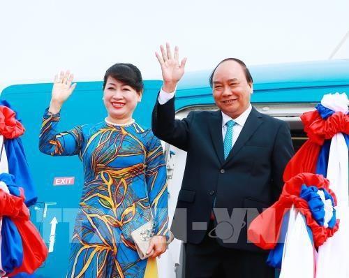 Thủ tướng Chính phủ Nguyễn Xuân Phúc và Phu nhân Trần Nguyệt Thu.