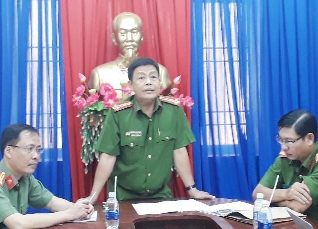 Đại tá Trương Ngọc Danh- Phó Giám đốc Công an tỉnh Cà Mau thông tin vụ việc.