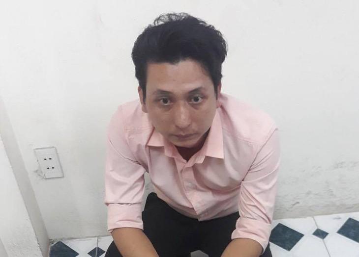 Đối tượng Nguyễn Minh Thắng tại cơ quan công an