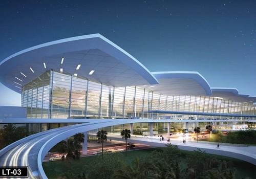 Phối cảnh thiết kế nhà ga sân bay Long Thành.