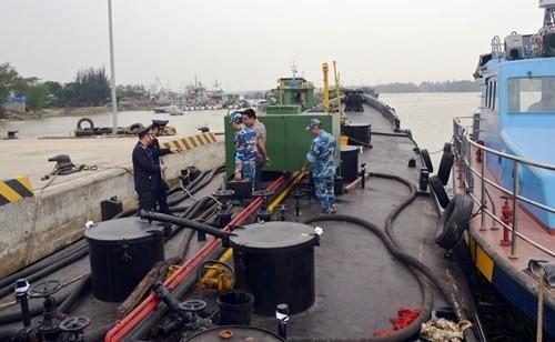 Tàu chở dầu bị bắt giữ.