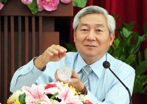 Ông Hoàng Như Cương tại buổi làm việc năm 2018.