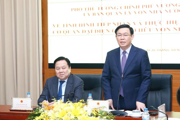 Phó Thủ tướng Vương Đình Huệ phát biểu tại cuộc họp. - Ảnh: VGP
