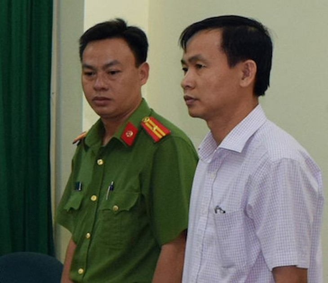 Trần Văn Tâm bị bắt giữ tại cơ quan điều tra.