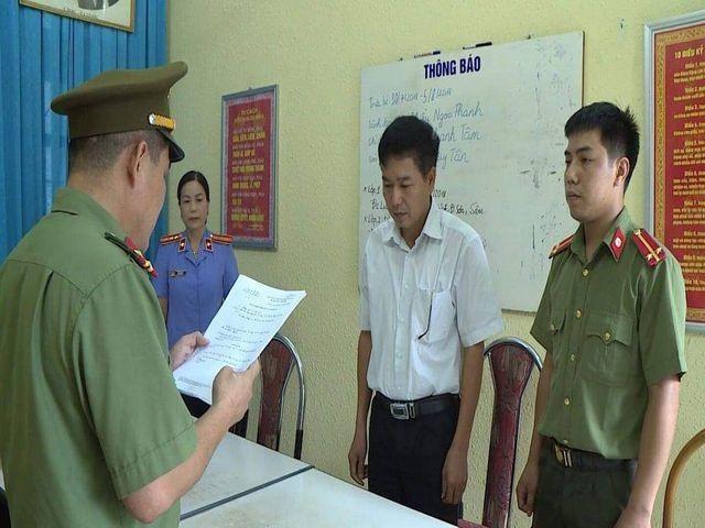 Cơ quan An ninh thi hành quyết định khởi tố đối với ông Trần Xuân Yến - Phó Giám đốc Sở GD&ĐT Sơn La.