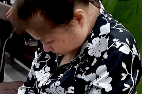 Bị cáo Nguyễn Phương Mai tại phiên sơ thẩm lần hai.