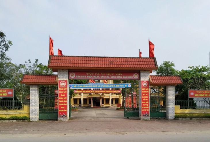 Trụ sở UBND xã Thạch Bằng. Ảnh: Đ.H