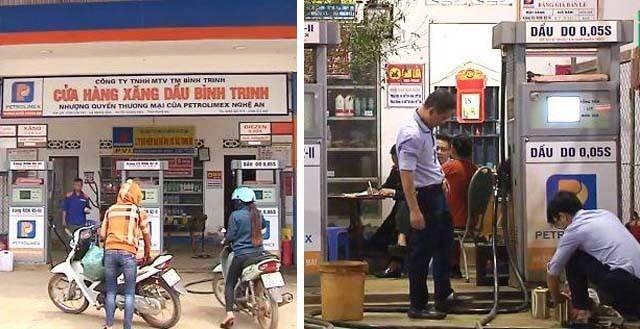 Cửa hàng xăng dầu Bình Trinh - nơi bị thanh tra Sở KH&CN Nghệ An phát hiện bán xăng E5 kém chất lượng.