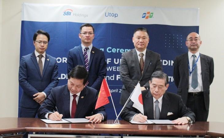 Lễ ký kết bản ghi nhớ chiến lược giữa FPT và SBI Holdings