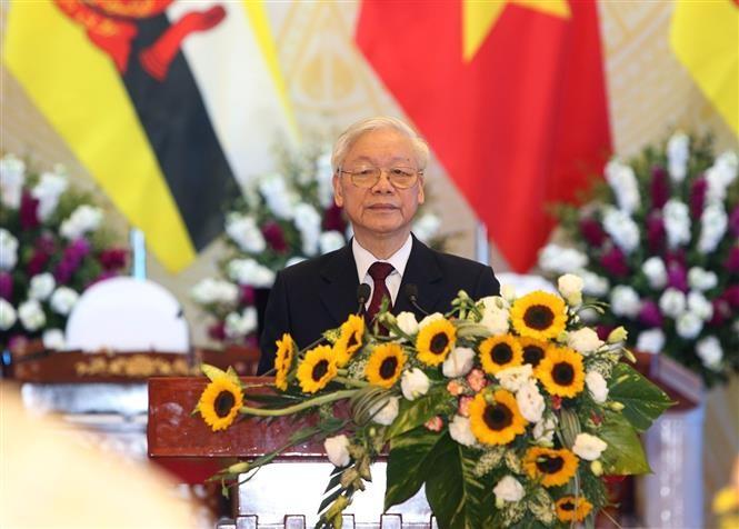"""Thông điệp của Tổng Bí thư, Chủ tịch nước Nguyễn Phú Trọng: """"Việt Nam: Đối tác tin cậy vì hòa bình bền vững""""."""