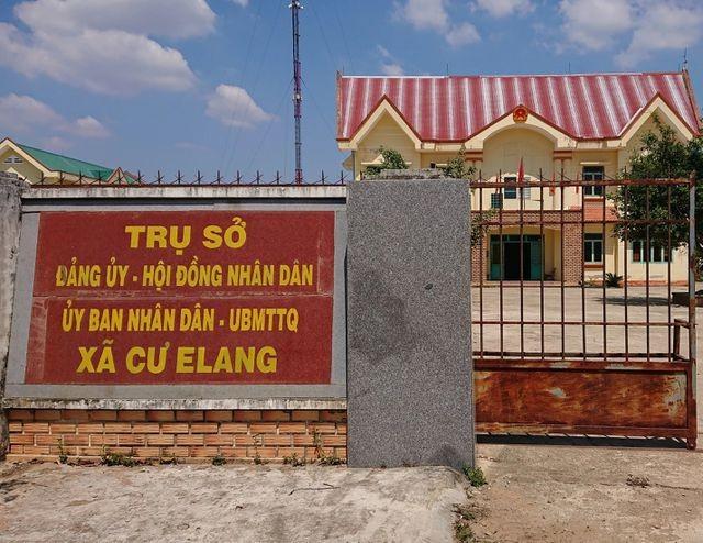 UBND xã Cư Elang nơi ông Hưu từng làm chủ tịch