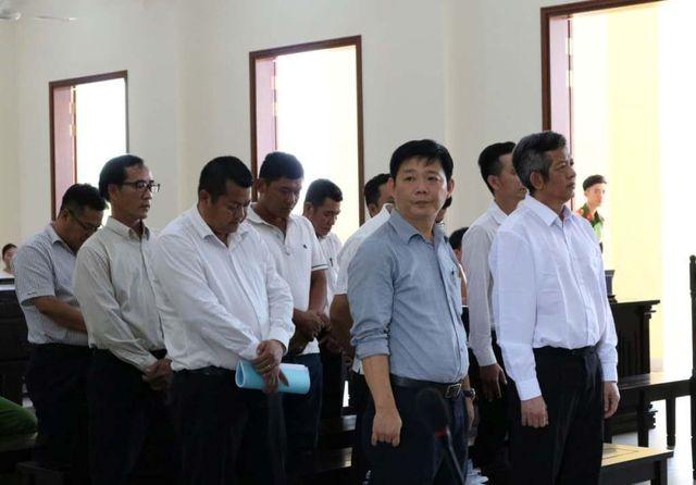 Các bị cáo tại phiên xét xử