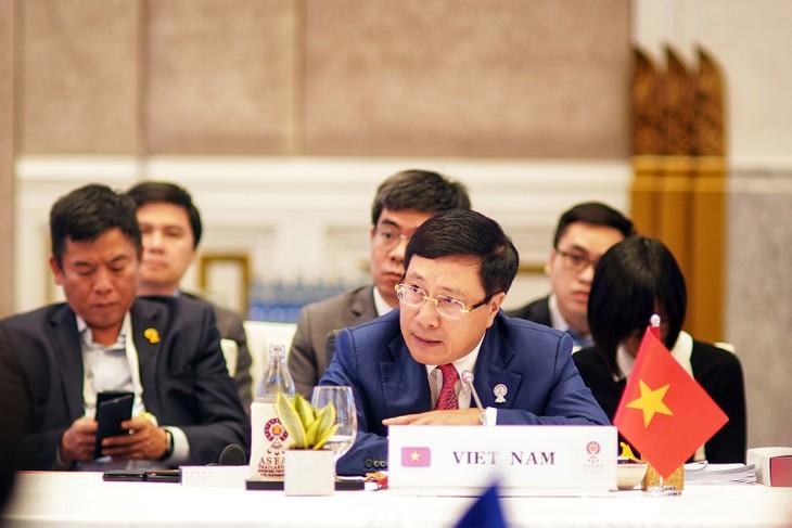 Phó Thủ tướng Phạm Bình Minh khẳng định ASEAN cần duy trì đoàn kết và nhất trí, coi đây là tài sản quý giá nhất. Ảnh: VGP