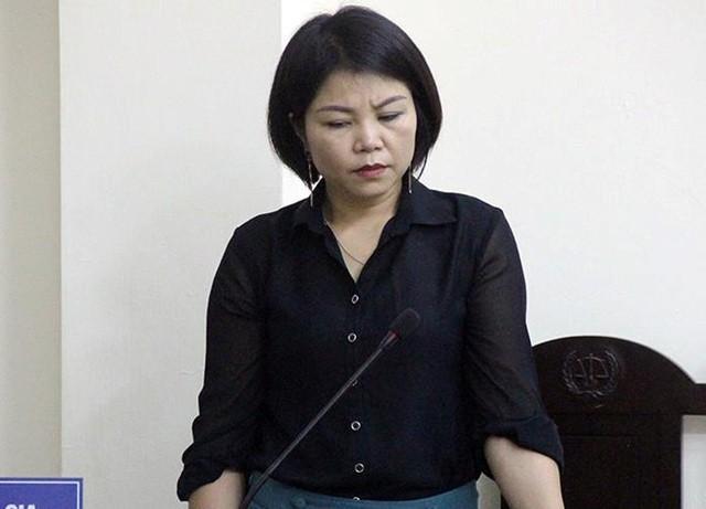 Cựu Thượng úy công an Nguyễn Thị Vững tại phiên tòa xét xử trước đây (Ảnh: CTV).