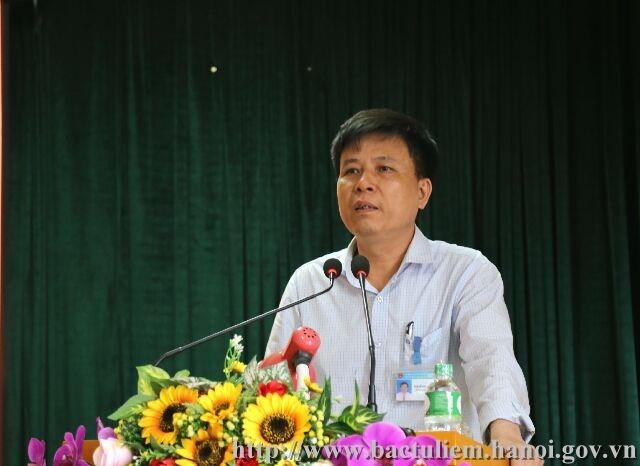 Ông Nguyễn Quang Thậm- Chủ tịch UBND phường Đông Ngạc (Ảnh: UBND quận Bắc Từ Liêm).