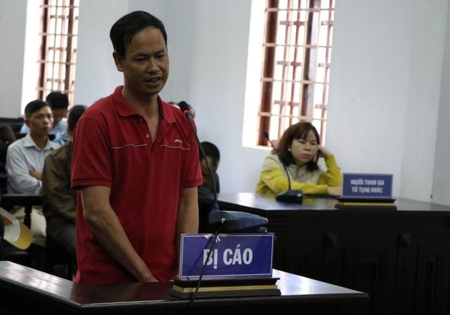 Bị cáo Vũ Xuân Chiến tại phiên tòa sơ thẩm