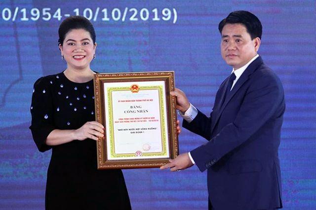 Bà Đỗ Thị Kim Liên không còn là người đại diện pháp luật của Công ty CP Nước mặt sông Đuống.