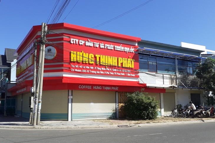 Chi nhánh Công ty cổ phần đầu tư và Phát triển địa ốc Hưng Thịnh Phát tại TP Phan Thiết ngày 19/12.