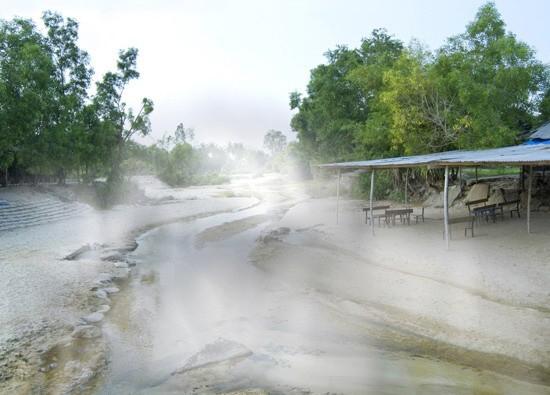 Một phần khu vực Suối nước nóng Hội Vân. Ảnh chỉ mang tính minh họa. Ảnh: Bình Định Invest