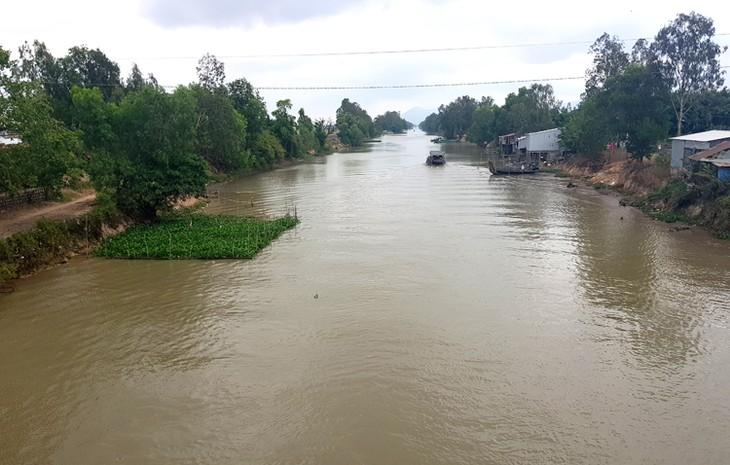 Đoạn kênh Vĩnh Tế tại huyện Tịnh Biên, tỉnh An Giang.