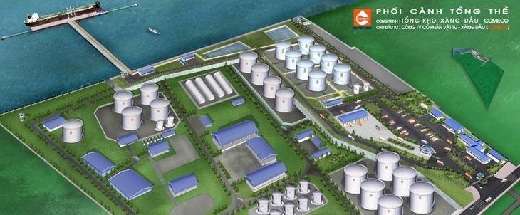 Phối cảnh Dự án Tổng kho xăng dầu COMECO. Ảnh chỉ mang tính minh họa. Nguồn Internet