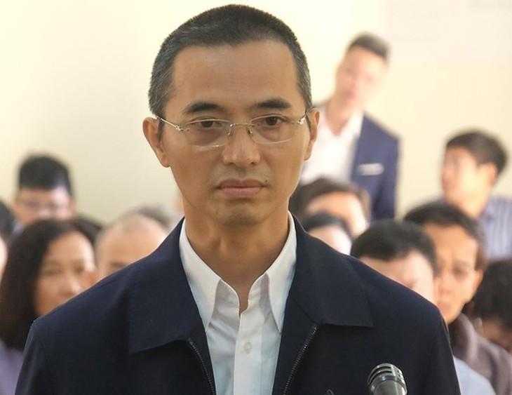 Chánh thanh tra Bộ Thông tin và Truyền thông Đặng Anh Tuấn trong phiên tòa sáng 25/11/2019.