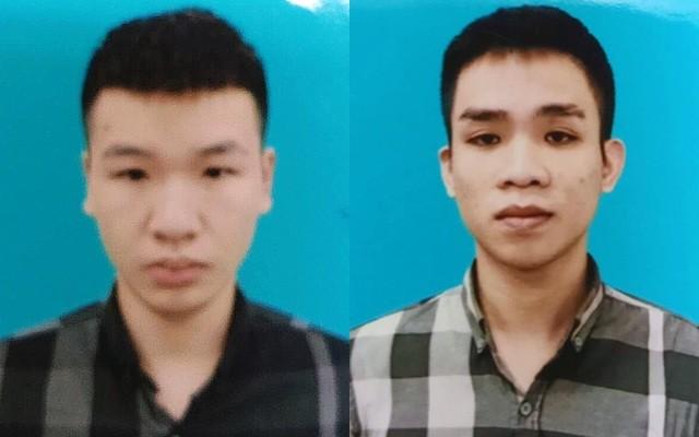 Hai đối tượng Trần Mạnh Tuấn (trái) và Ninh Xuân Phúc.
