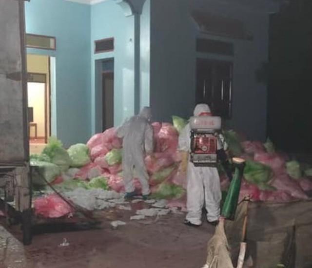 Hình ảnh khẩu trang y tế đã qua sử dụng được thu gom tại nhà Nguyễn Minh Nguyên (Ảnh: CTV).