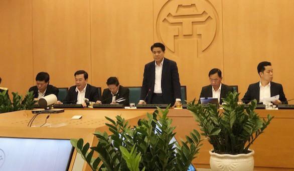 Chủ tịch UBND Thành phố Nguyễn Đức Chung kết luận cuộc họp Ban chỉ đạo phòng chống dịch Covid-19.