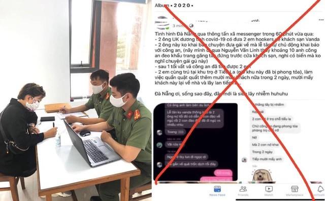Người thông tin sai sự thật liên quan 2 du khách Anh mắc Covid- 19 ở Đà Nẵng nhận mức phạt 10 triệu đồng (ảnh: Công an cung cấp)