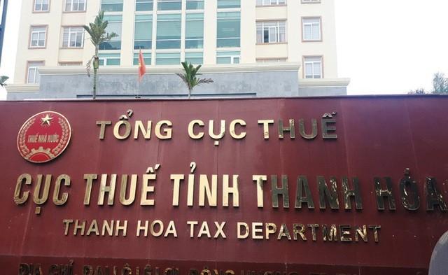 Cục thuế Thanh Hóa- nơi ông Đính làm việc.