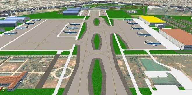 Quy hoạch sân đỗ máy bay và nhà ga T3 Tân Sơn Nhất. Ảnh: Bộ GTVT