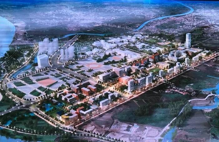 Phối cảnh mô hình thành phố giáo dục quốc tế Hải Phòng.