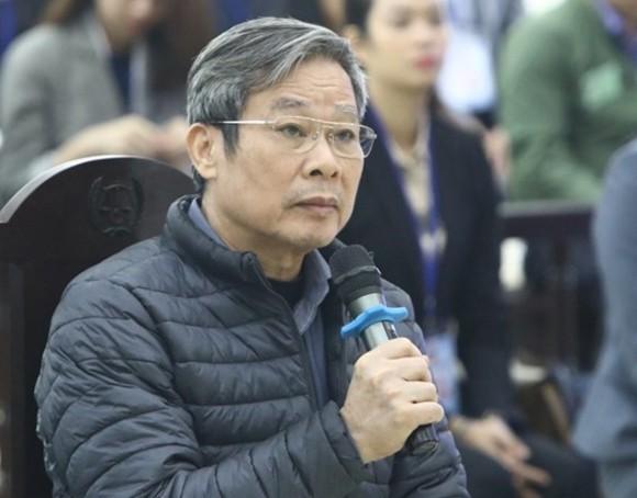Cựu bộ trưởng Nguyễn Bắc Son tại phiên toà sơ thẩm tháng 12/2019. Ảnh: TTXVN.