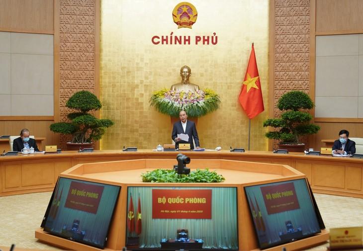 Thủ tướng chủ trì phiên họp Chính phủ thường kỳ tháng 3/2020. Ảnh: VGP
