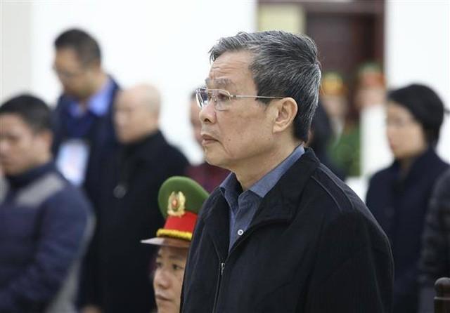 Cựu Bộ trưởng Nguyễn Bắc Son tại tòa sơ thẩm cuối năm 2019.