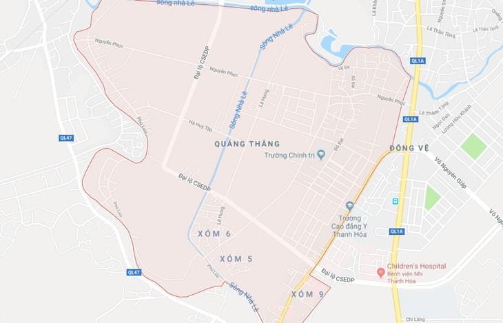 Dự án Khu dân cư phía Tây đường Hải Thượng Lãn Ông, phường Quảng Thắng, TP. Thanh Hóa có tổng diện tích 200.455 m2