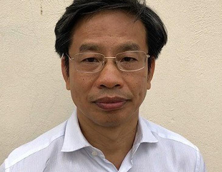 Bị can Nguyễn Xuân Sơn tại cơ quan điều tra. Ảnh: Bộ Công an