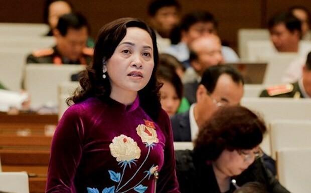 Bà Nguyễn Thị Thanh tại nghị trường. Ảnh: Trung tâm báo chí Quốc hội