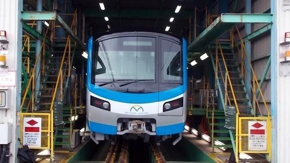 Đầu tàu Metro Số 1 tại nhà máy ở Nhật Bản. Ảnh: MAUR.