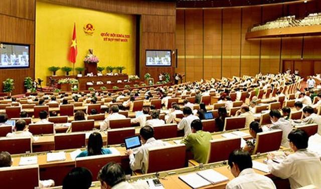 Phòng họp Diên Hồng tại Nhà Quốc hội hiện nay với tổng cộng 517 chỗ ngồi dành cho các đại biểu Quốc hội.