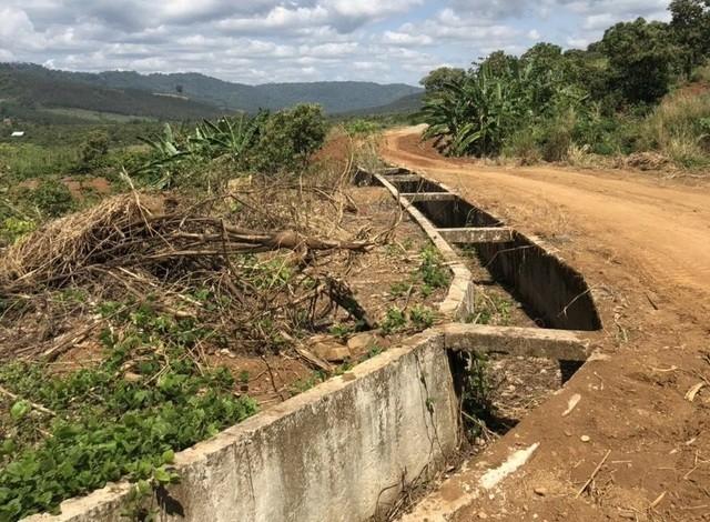 Kênh dẫn nước tại Công trình thủy lợi Đắk Ngo xuống cấp, bỏ không (ảnh :VKSND Đắk Nông)