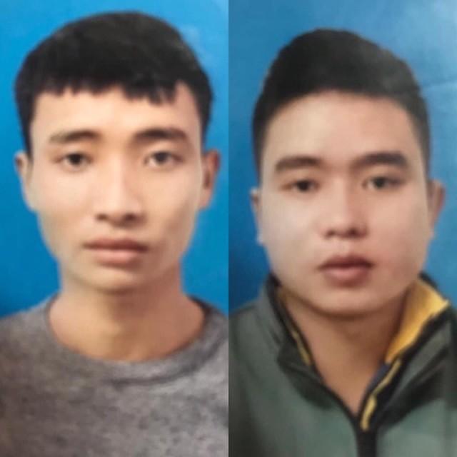 2 đối tượng Hoàng Như Liệu (bìa trái) và Nguyễn Chí Quân tại cơ quan công an.