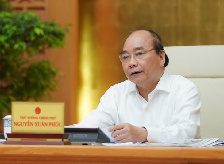 Thủ tướng kết luận cuộc họp Thường trực Chính phủ chiều 22/4. Ảnh: VGP