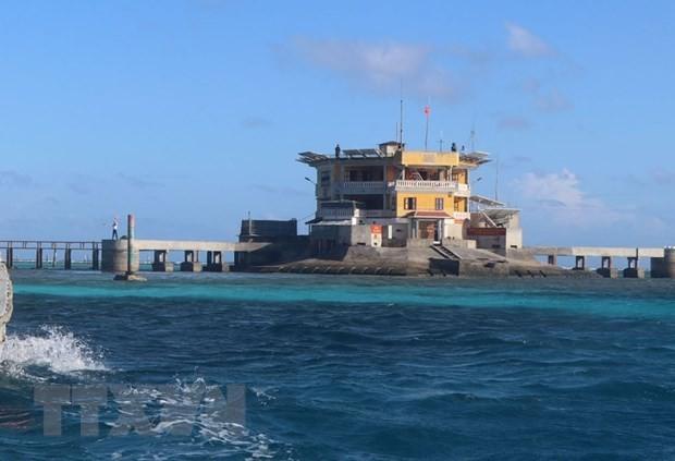 Đảo Tốc Tan, quần đảo Trường Sa, tỉnh Khánh Hòa. Ảnh minh họa: TTXVN