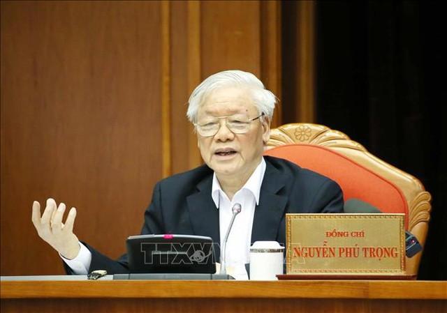 Tổng Bí thư, Chủ tịch nước Nguyễn Phú Trọng chủ trì hội nghị của Ban chấp hành Trung ương.