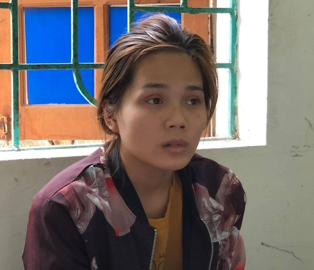 Bị cáo Lê Nữ Lan Na thời điểm bị bắt giữ.
