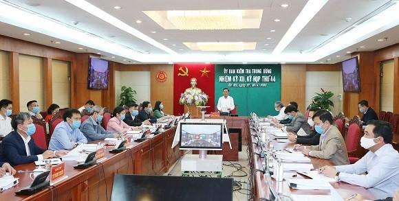 Ủy ban Kiểm tra Trung ương thông báo kết quả Kỳ họp 44