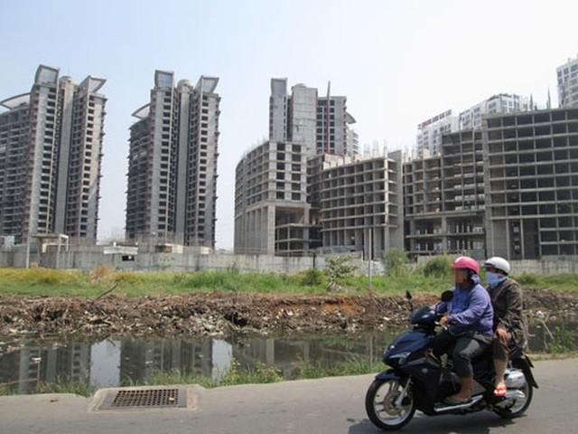 Một dự án bất động sản ở huyện Nhà Bè được ngân hàng rao bán